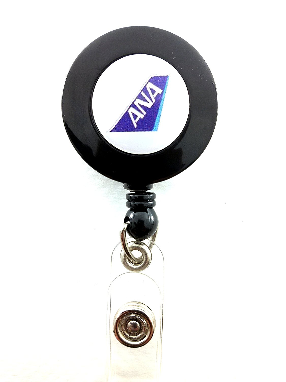 All Nippon Airways YO YO ID Card Badge Holder Retractable Reel Lanyard ANA Logo