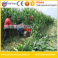 High quality mini harvester for corn|walk behind sorghum harvester