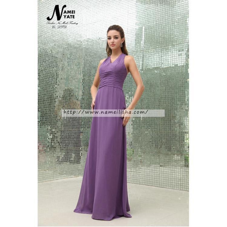 Venta al por mayor vestidos color uva-Compre online los mejores ...