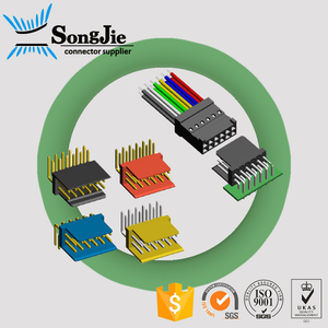 2.54mm 2.54 wafer connector right angle/vertical low profile 4 - 40 pins male header double rows