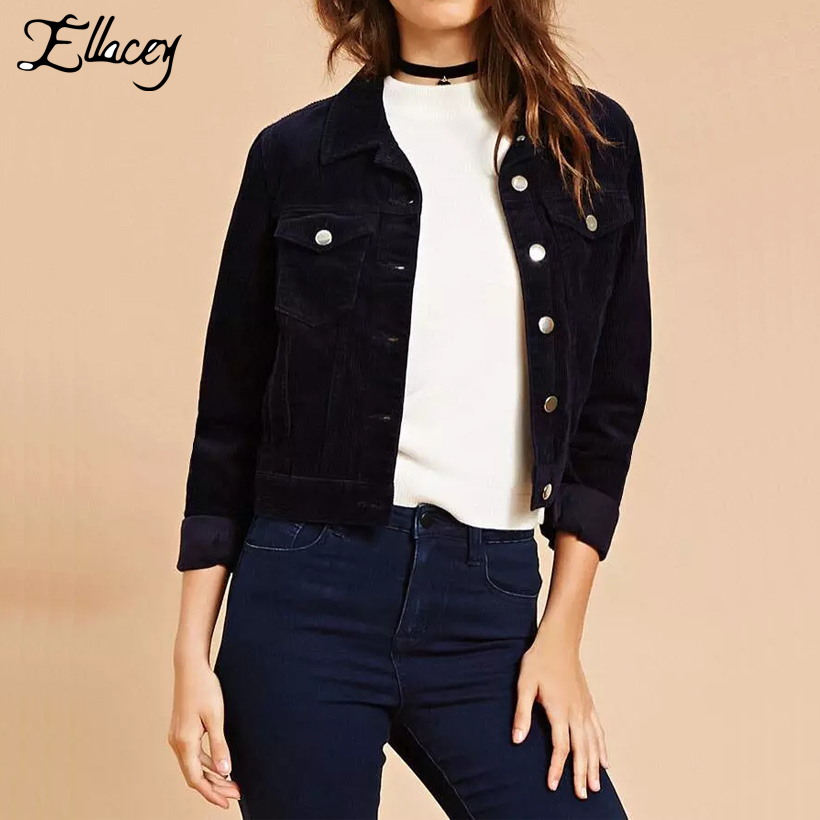 Online Buy Wholesale womens corduroy jacket from China