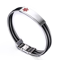 Euramerican style steel bracelet, titanium steel medical flag bracelet, creative fashion bracelets wholesale YSS1067