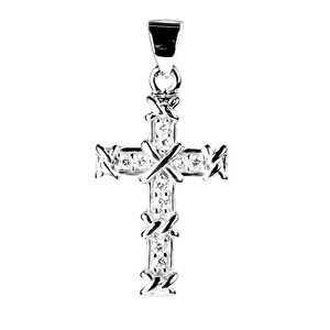 LOZRUNVE Micro Setting Zircon s925 Christian Themed Cross Pendant