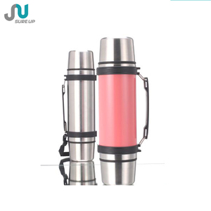 Two cups practical stainless steel insulation cooler vacuum flask (FSUH)
