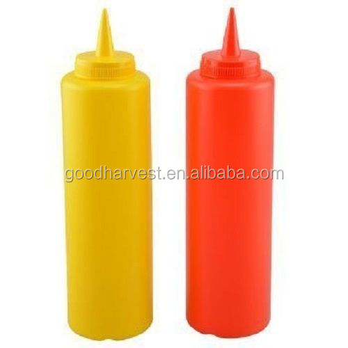 Kitchen Ketchup Mustard Plastic Condiment Bottle