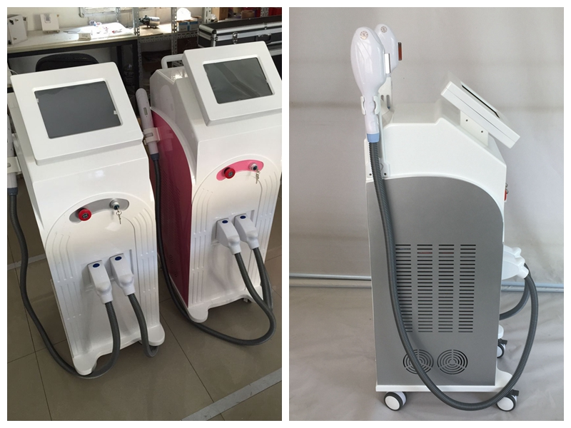 Salon use 2 handles diode laser permanent hair removal device beauty machine