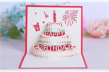 Another design birthday cake and candles new design handmade paper another design birthday cake and candles new design handmade paper sculpture shape greeting cards pop up m4hsunfo