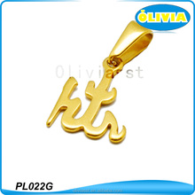 Olivia Gold Color Pendant Design Surgical Steel Pendant Charms Pendants