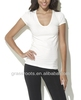 TX0635 Comfortable Fitted Spandex Womens Sweater V Neck Blank T-shirt Wholesale 2014
