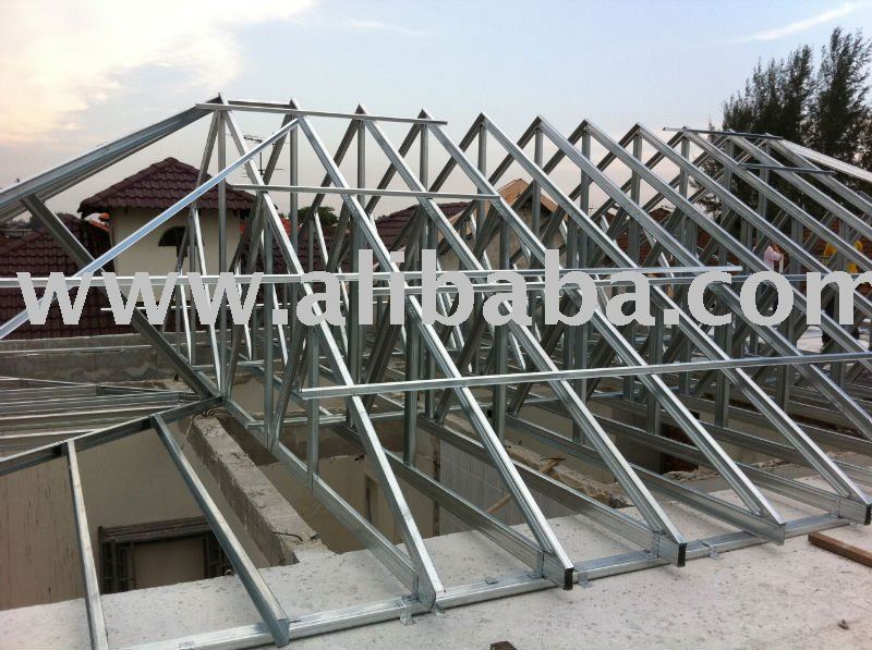 Steel roof trusses 10 wide gambrel roof truss outside for How to order roof trusses