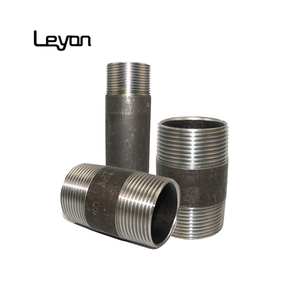 bw pipe fittings forged hydraulic hose fitting bsp threaded din 2982 /2999 carbon steel long short nipple