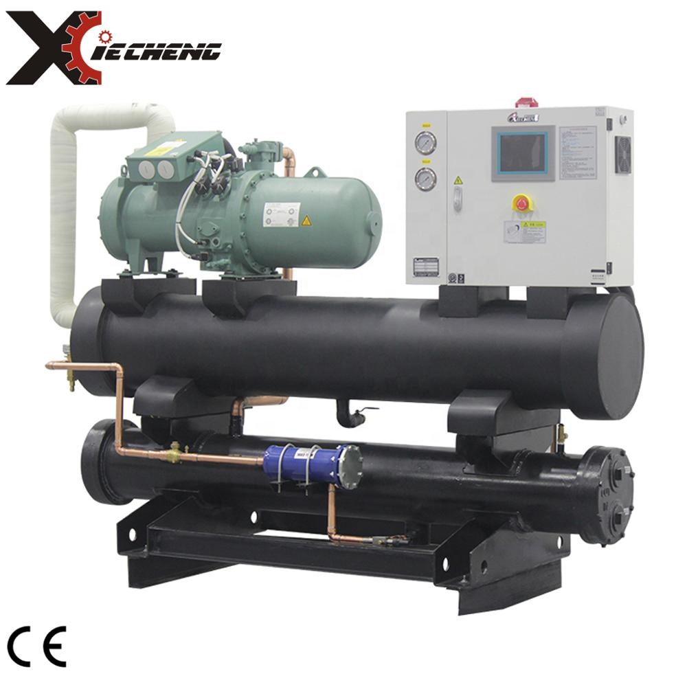 water cooled screw HANBELL compressor chiller for plastic industrial