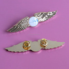 custom gold metal airline pilot wing badges eagle lapel pins