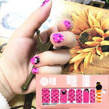 Pink Black cute Mouse child Nail Arts Nail Sticker Waterproof Nail Decal Sticker Gel Polish French