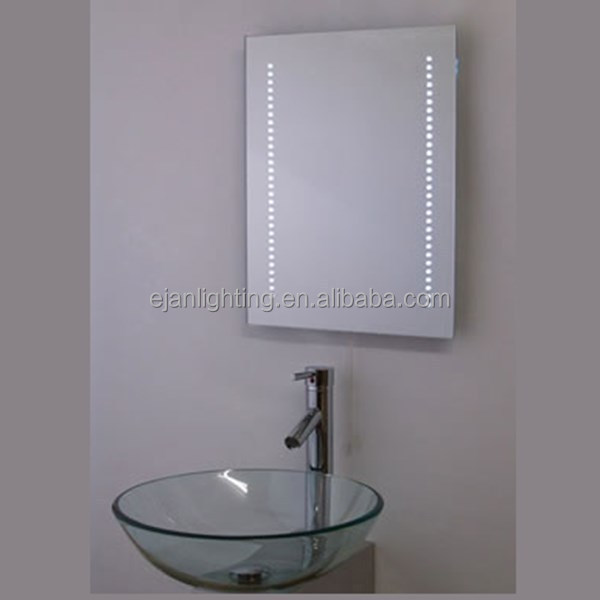anti mist bathroom mirror anti fog bathroom makeup mirror with led light view 15389