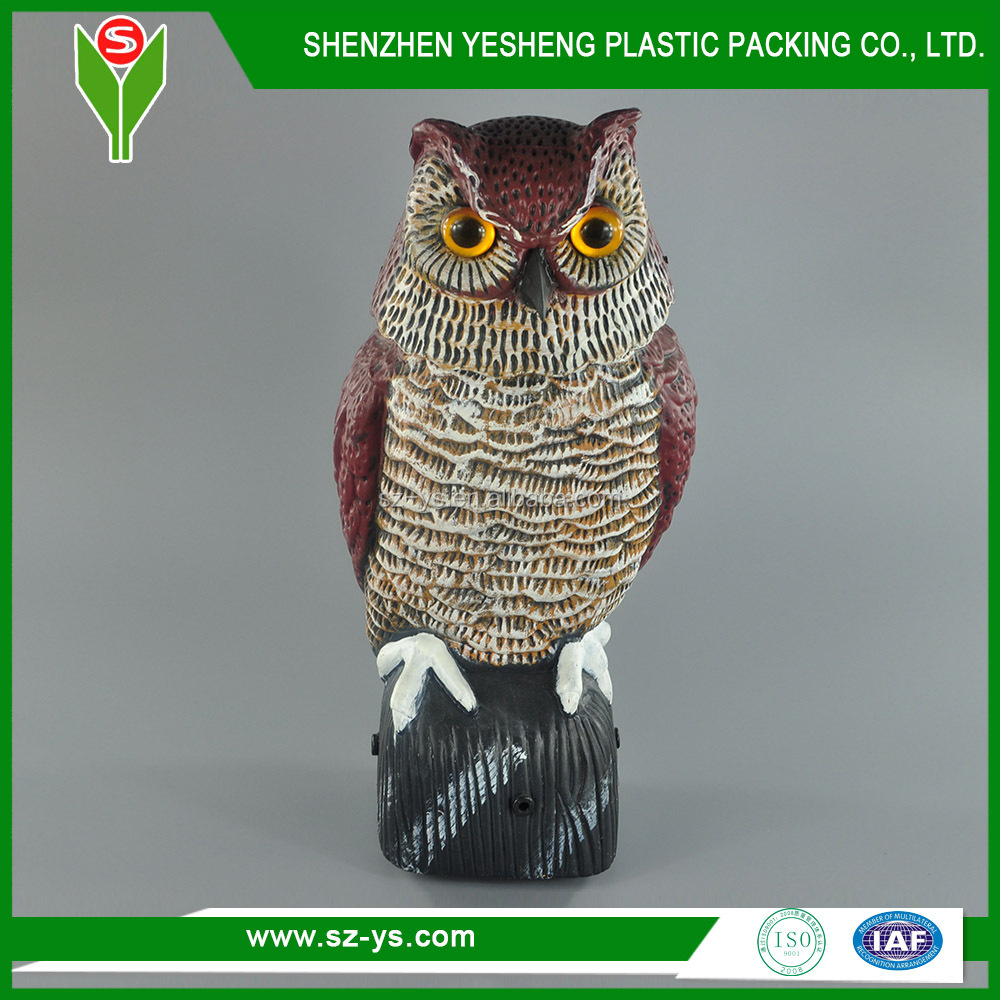 Garden Decorative Owl Scarecrow Plastic Rotating Head Owl decoy