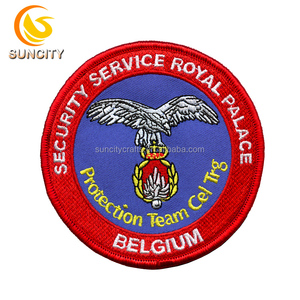 OEM service china factory customized design Security Service Royal Palace Belgium Protection Team Cel Trg embroidery patch