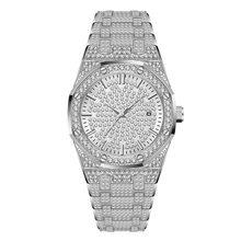 MISSFOX часы женские часы люксовый бренд 2019 18 K золотые часы модные Календарь женские часы с бриллиантами Женские кварцевые наручные часы(China)