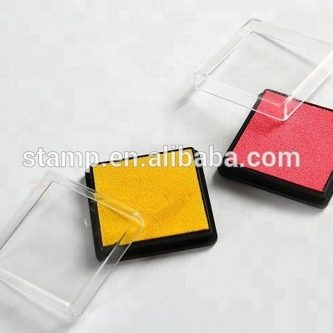 Factory direct sale colourful Square Stamp Pad Ink Pad plastic Ink Pad