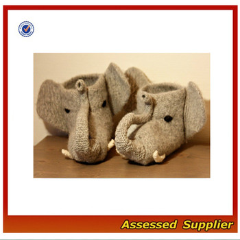 Cute Crochet Baby Elephant Slipper Socks 397
