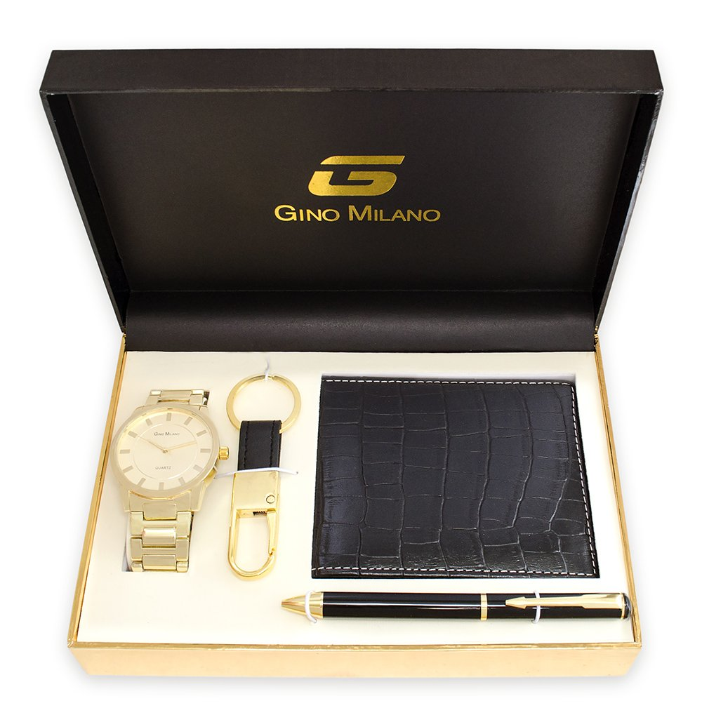 Get Quotations · Men s Gold Watch Gift Set With Wallet 77a2e3dfc