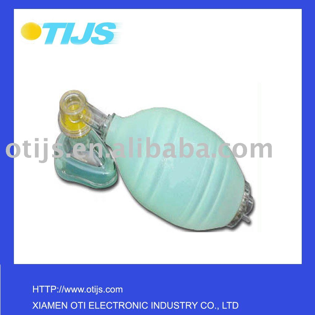 custom reusable silicone oxygen resuscitation bag