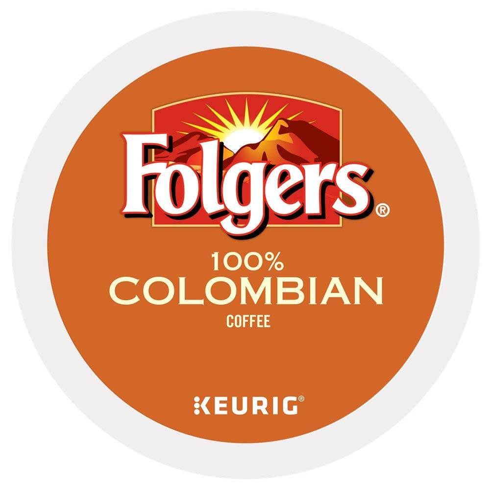 Folgers 100% Colombian Medium Dark Roast Coffee 200 K-Cups