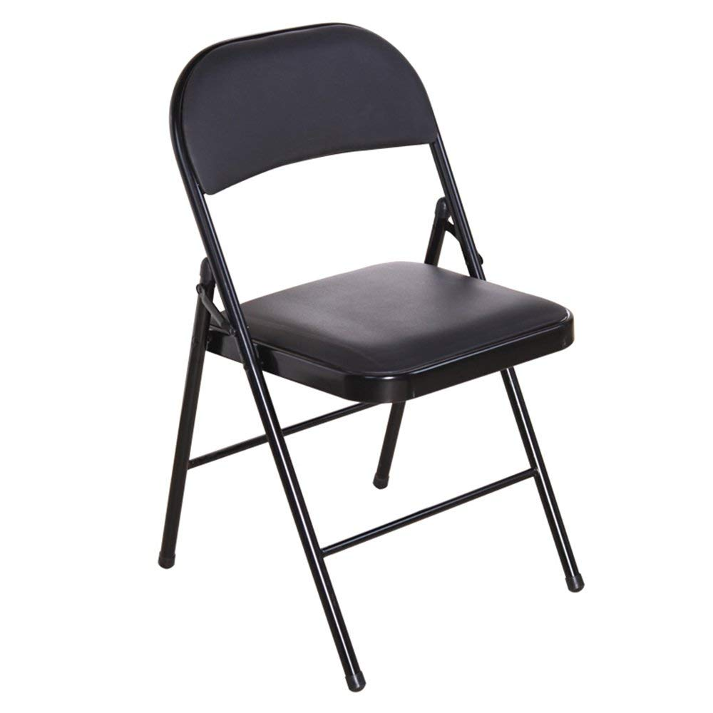 Folding chair / chair / computer chair / office chair / staff chair / chair / meeting chair / student chair /Stool / chair /armchair/Conference Chair / Reception Chair / ( Color : Black )