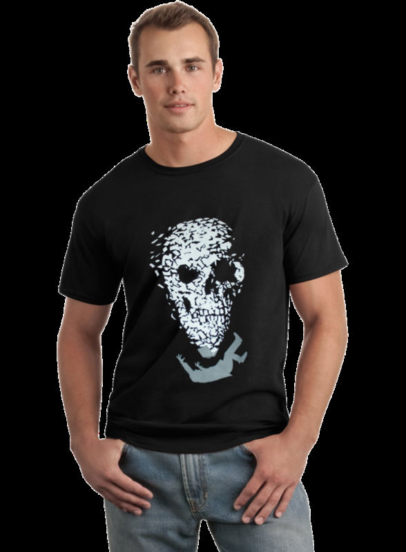 Street Art Graphic Design Mens Printed T-shirt - Scull