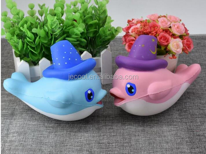 16cm Squishy Slow Rising Whale Cartoon Unicorn big jumbo Giant Soft Squeeze Squishies Toy Phone Straps Ballchains