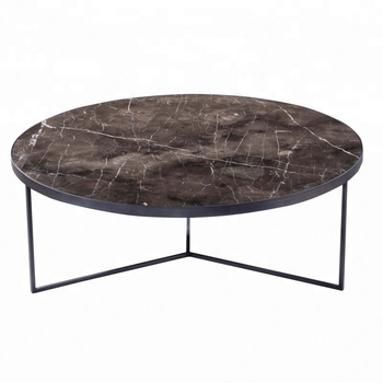 2018 Home Goods Marble Top Round Coffee Table For Living Room Used