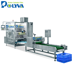 Water sealing PVA/PVOH tide pods laundry detergent pods water soluble film packing machine