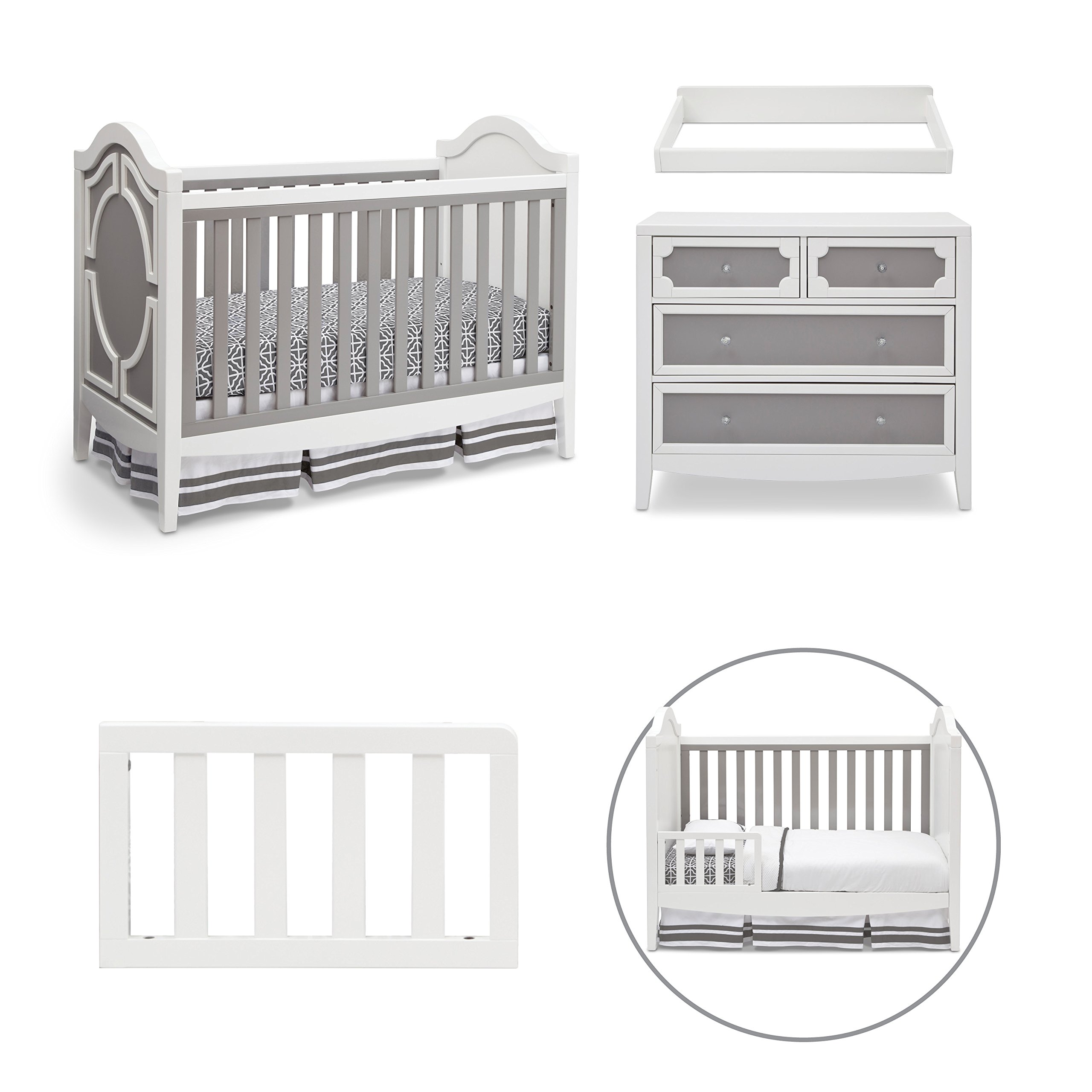 simmons nursery furniture. Get Quotations · Simmons Kids Holywood 4-Piece Nursery Furniture Set, White/Grey 6