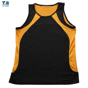 Custom sleeveless gym singlet running vest/sports vest