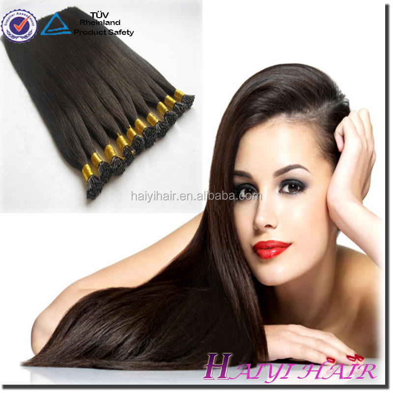 Wholesale Best Selling Keratin Silky Straight Can Be Dyed U Tip Hair Extensions