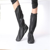 Motorcycle Riding Waterproof Non-slip Sole Rain Boots Shoes Covers polyester
