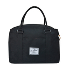 polyester large black tote bags handbag for woman with embroidery logo