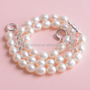 wholesale pearl necklace with 925 silver chinese knot