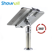 360 degree rotating tablet pos display stand with security lock anti-theft secure mount holder for ipad