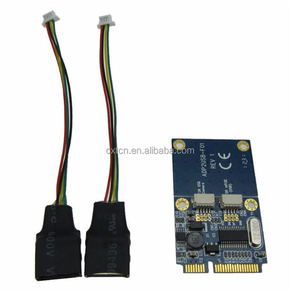 PCI-E PCI Express Dual USB Adapter mPCIe 5 Pin 2 Port USB2.0 Converter