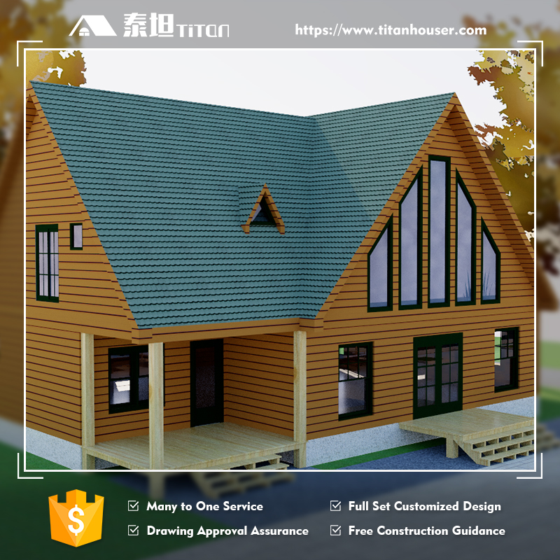 Titan Wood Prefabricated Residential Houses and Villas with Full Drawings