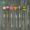 Stainless steel e cigarette wax dabber tool titanium dab nail for wax glass pipe silicone container with cool badges supply OEM