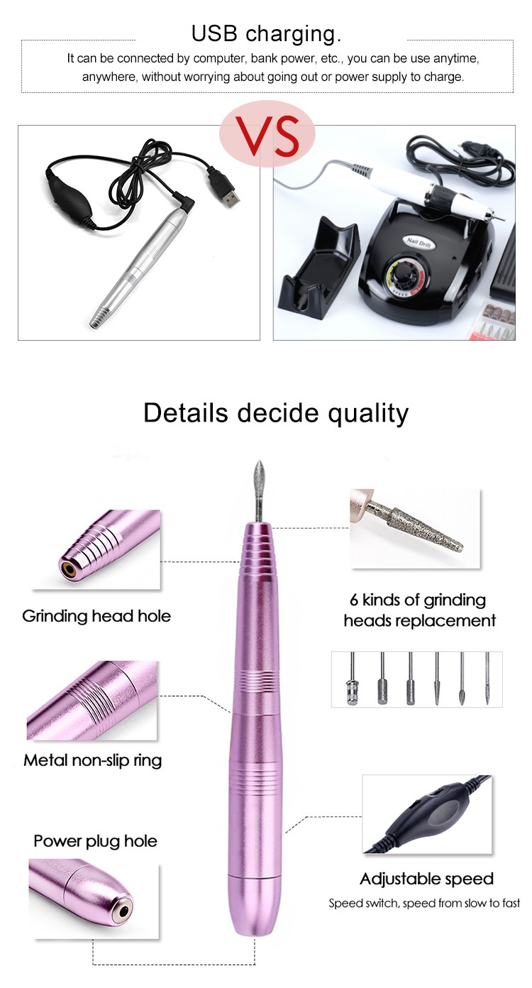 20000rpm Portable Strong Machine Micromotor Rechargeable Marathon Electric Nail Drill