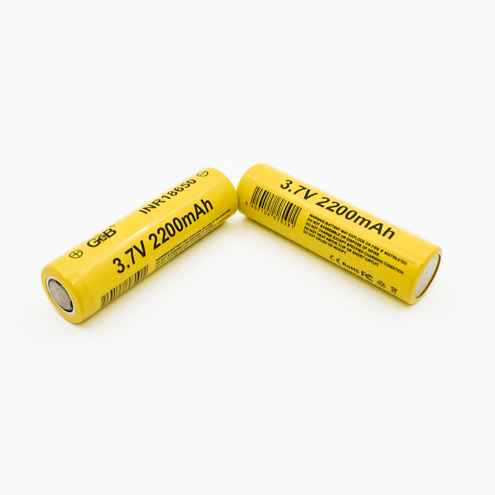 Manufacture Lowest Price Rechargeable battery 3.7V 2200mAh Lithium 18650 Li-ion Battery