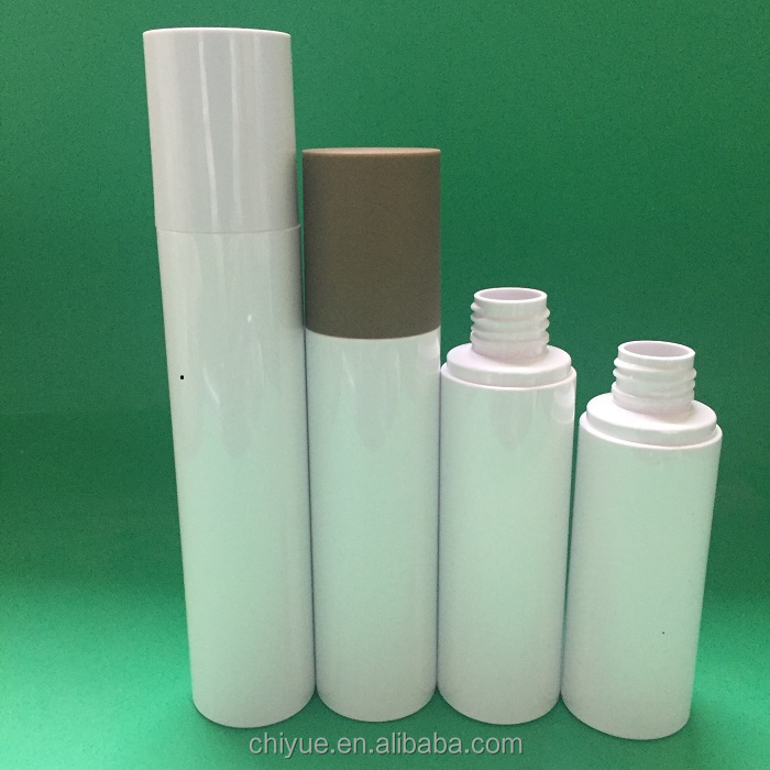 Different Volume China-made designer cosmetic bottle 80ml with different sprayed cap wood white