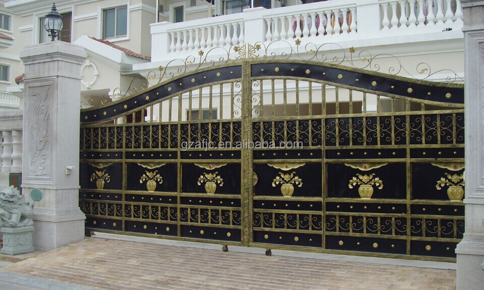 Metal Yard Gate Apartment Main Gate Designs Wrought Iron