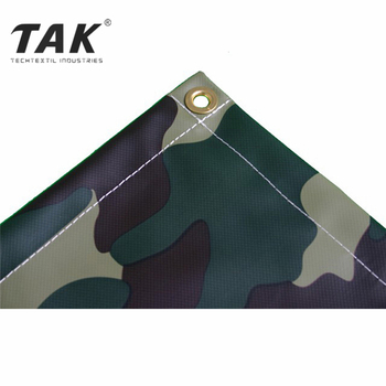 18 oz Camouflage Printed Fabric Material Military Vinyl Coated Camo Tarp