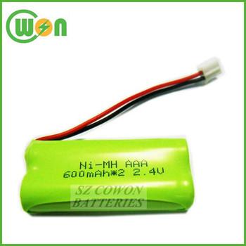 600mah 2 4v Ni Mh Rechargeable Battery Aaa Nimh 2 4v