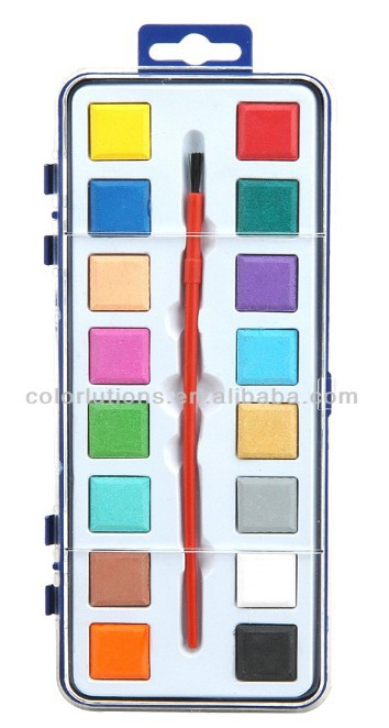 16 colors Promotional School Water Color Paint Set