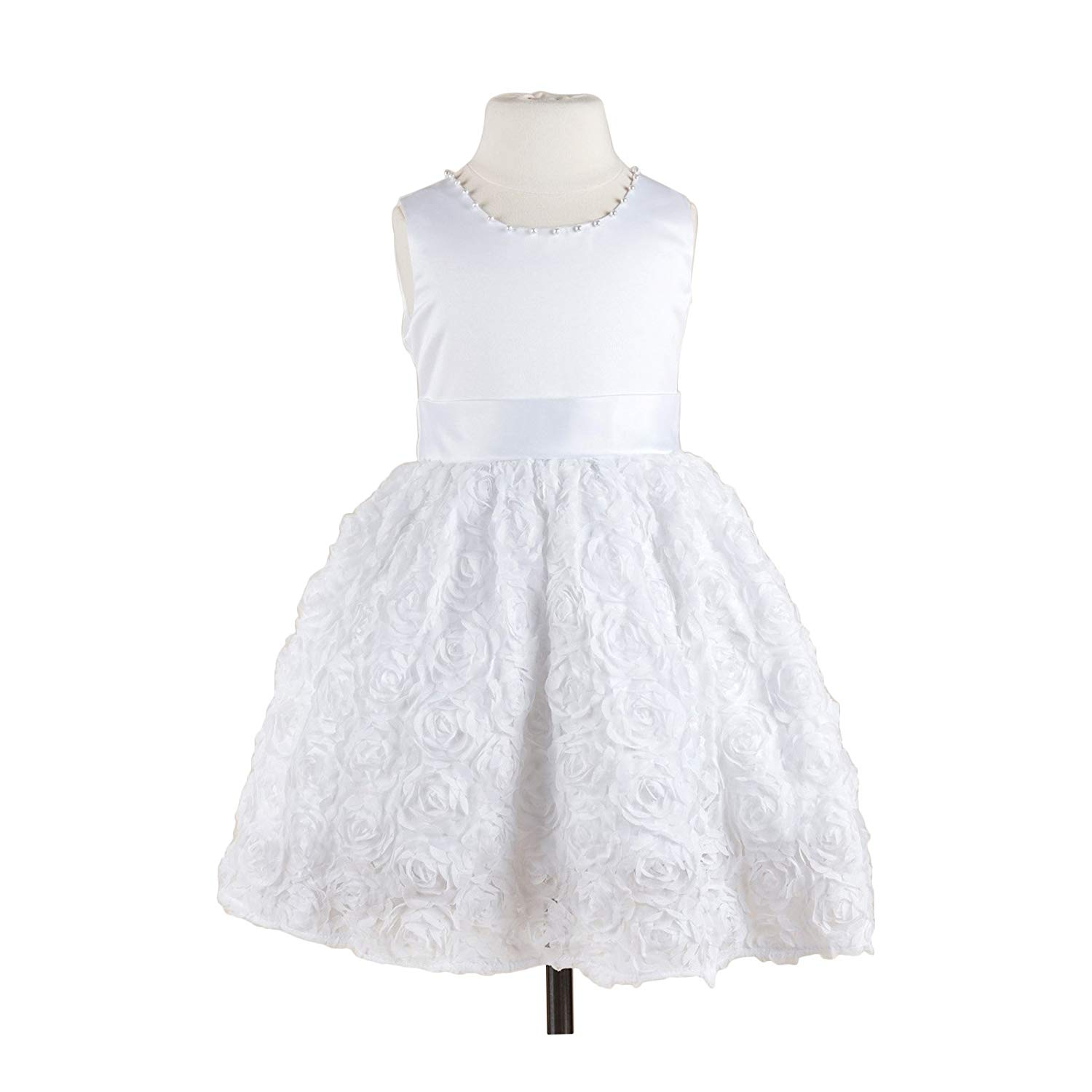 ecd0301bfc1 Get Quotations · Yaya Fairies Efavormart Angelic White Satin and Lace Tulle  Flower Girl Dress